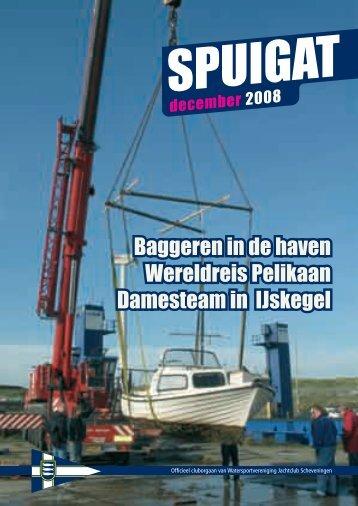 Baggeren in de haven Wereldreis Pelikaan Damesteam in IJskegel