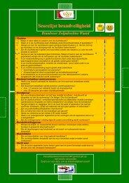 Scorelijst brandveiligheid Brandweer Zwijndrechtse Waard