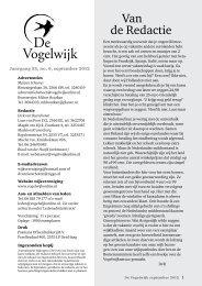 Van de Redactie - Vogelwijk Den Haag