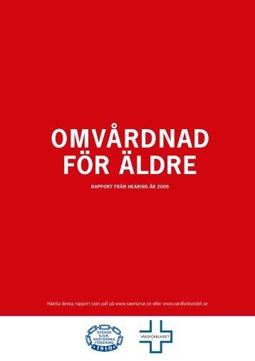 Omvårdnad för Äldre (pdf) - Vårdförbundet