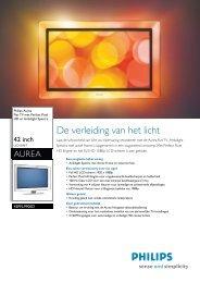 42PFL9900D/10 Philips Flat TV met Perfect Pixel ... - Gebroeders Nijs