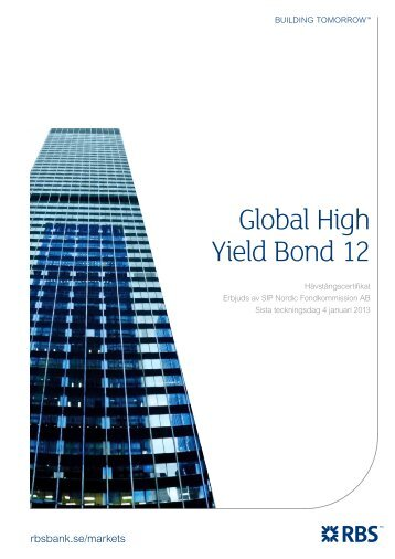 Global High Yield Bond 12 - Sweden