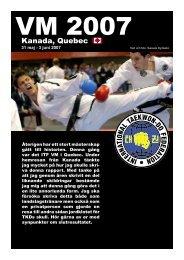 2007 - VM i Kanada - Swedish ITF Taekwon-Do Association