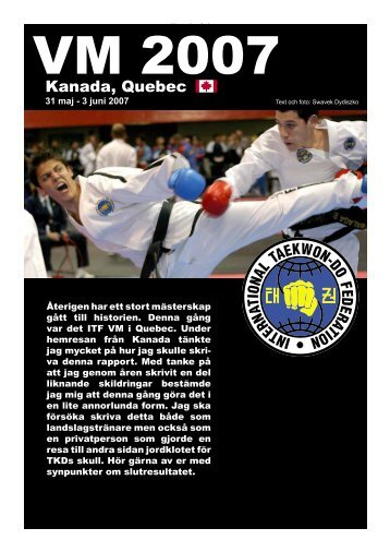 2007 - VM i Kanada - Swedish ITF Taekwon-Do Association