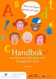 Handbok om hur man intervjuar och fotograferar barn