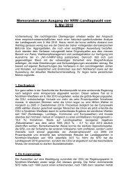 Wahlanalyse Landtagswahl 2010