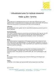 Udbudsbeskrivelse for koblede elementer - Linolie Døre & Vinduer