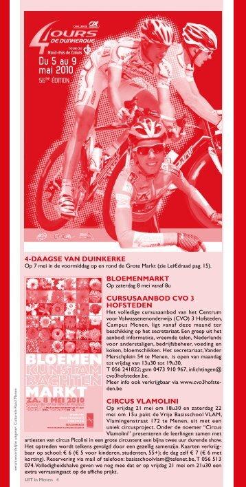 4-Daagse van DUinkerke BloeMenMarkt CUrsUsaanBoD ... - Menen