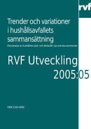 Trender och variationer i hushållsavfallets ... - Avfall Sverige