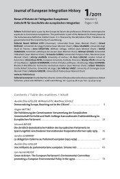 Journal of European Integration History 1/2011 - The European ...