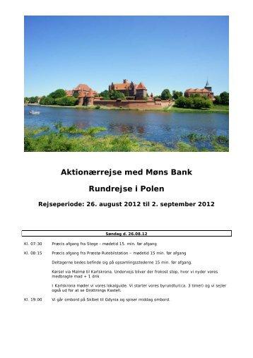 Aktionærrejse med Møns Bank Rundrejse i Polen