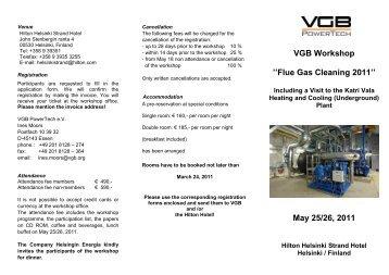 VGB Workshop ''Flue Gas Cleaning 2011'' May 25 ... - VGB PowerTech