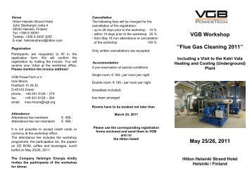 VGB Workshop ''Flue Gas Cleaning 2011'' May 25 ... - VGB PowerTech