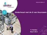 Evides - Onderhoud met de D van Duurzaam DEF - Deltalinqs Energy Forum