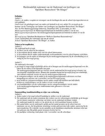 Documenten - obs De Slinger