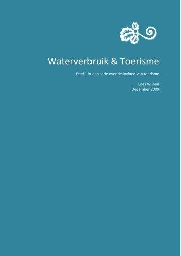 Waterverbruik & Toerisme - IDUT
