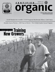 Going Organic: Training New Growers - CCOF
