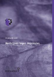 Medicijnen tegen depressies - Nederlandse Vereniging voor ...