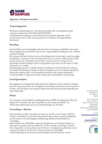 Faxsjabloon Sauer Danfoss BV