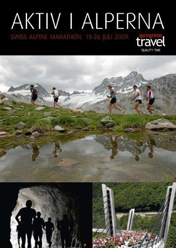 swiss alpine marathon. 18-26 juli 2009. - Springtime Travel