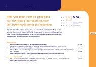 NMT-Checklist voor de omzetting van uw fiscale ... - VvAA