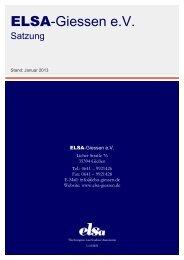 Satzung von ELSA-Giessen e.V. (Stand: Januar 2013)