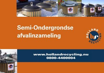 Semi ondergrondse containers - Holland Recycling