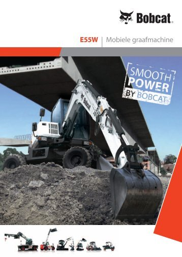 Brochure - Compacte graafmachine E55W - Bobcat.eu