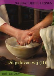 SABBAT BIJBEL LESSEN - Seventh Day Adventist Reform Movement