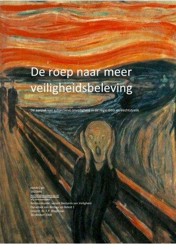 De roep naar meer veiligheidsbeleving - PvdA Hilversum