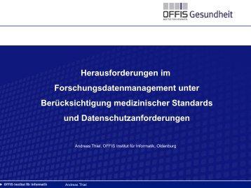 Herausforderungen im Forschungsdatenmanagement unter ...