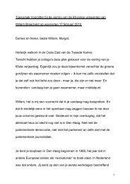 Toespraak Voorzitter bij het afscheid van Willem ... - Tweede Kamer