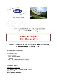 EGPRN-meeting - Irish College of General Practitioners
