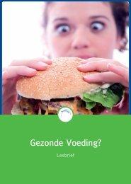 Lesbrief « Gezonde Voeding - Taalgericht Vakonderwijs