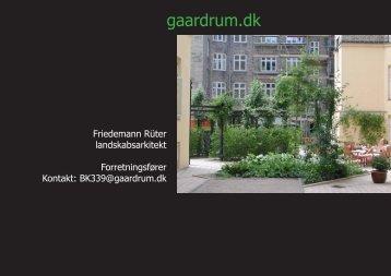 Powerpoint fra 2. møde - gaardrum.dk