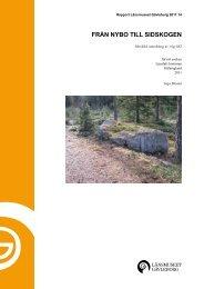 xlm rapport 2011-14 - Länsmuseet Gävleborg