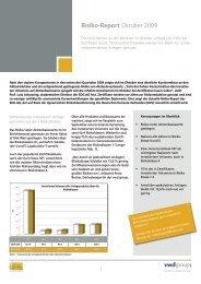 Risiko-Report Oktober 2009 - Vwd