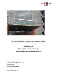 Toekomstvisie 'Zorg voor oudere doven' - STG / Health Management ...
