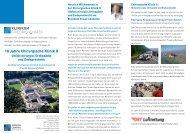 10 Jahre Chirurgische Klinik II - Klinikum Friedrichshafen GmbH