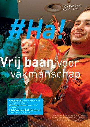 Hago Jaarbericht uitgave juli 2011