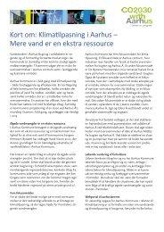 Kort om: Klimatilpasning i Aarhus – Mere vand er en ... - CO2030.dk