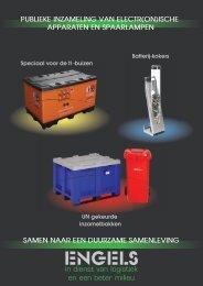 Inzamelbakken elektr(on)ische apparatuur en lampen - Engels