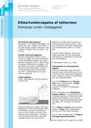 Kikkertundersøgelse af tyktarmen Koloskopi under indlæggelse