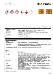 Hvidt phosphor - Information om farlige stoffer