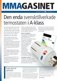 Den enda svensktillverkade termostaten i A-klass - MMA