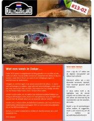 Nieuwsbrief 2013-02 - Rallye Club Holland