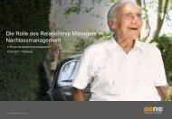Die Rolle des Relationship Managers im ... - GeNe GmbH