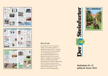 Mediadaten Nr. 12 gültig ab Januar 2012 - Tecklenborg Verlag