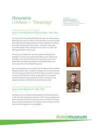 """Personerna i Uniform − """"Personligt"""" - Mynewsdesk"""