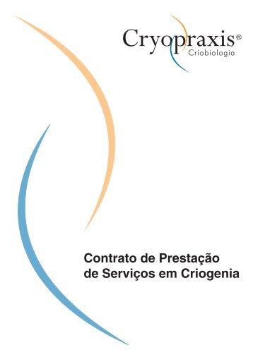 Contrato de Prestação de Serviços em Criogenia - Cryopraxis
